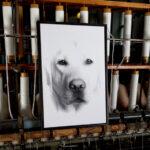 canvastavla hund