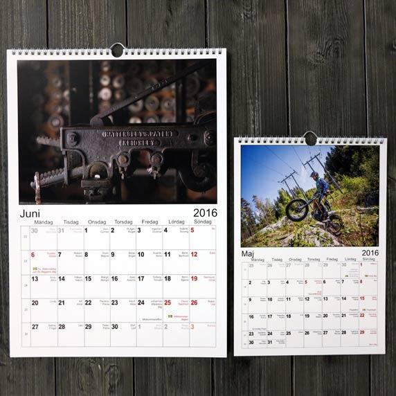 Enkelt utgiver fotokalender