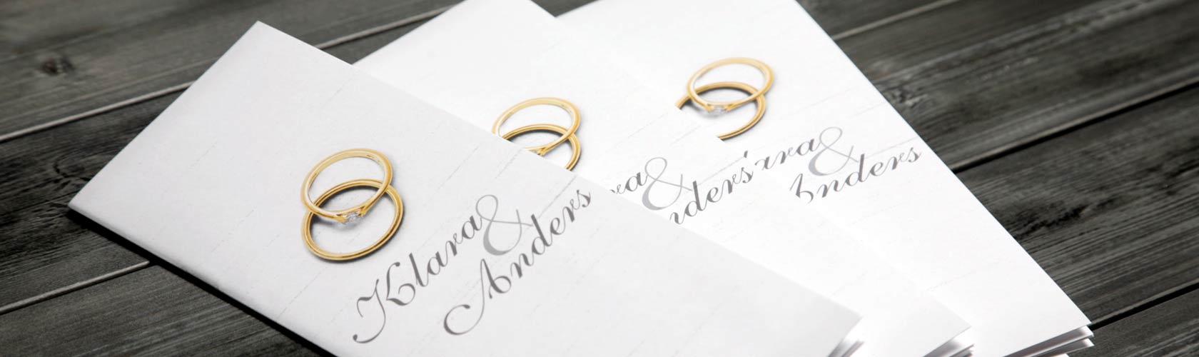 Bröllopsprogram häfte