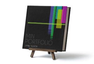 portfolio svart-Fotobok
