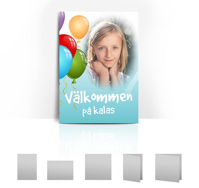 Födelsedagskort ballonger