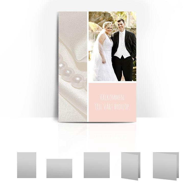 Bröllopskort Pärlor