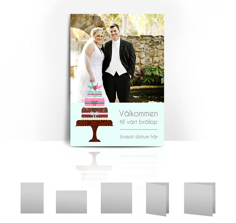Bröllopskort Cake