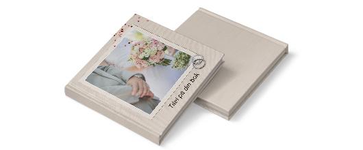 fotobok hård pärm beige bröllop
