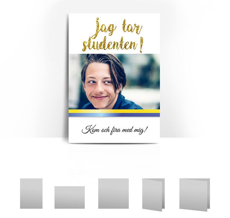 studentkort Glitter