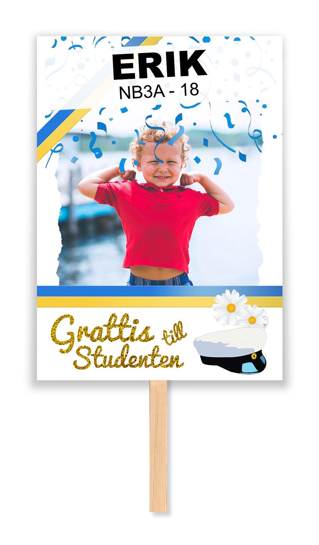 studentskylt konfetti