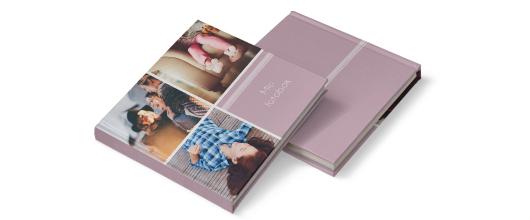 Hård pärm lila fotoböcker