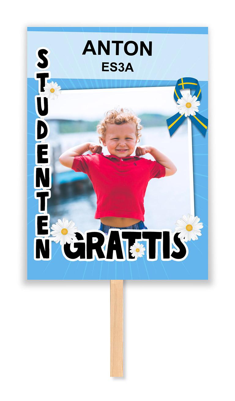 studentskylt blå
