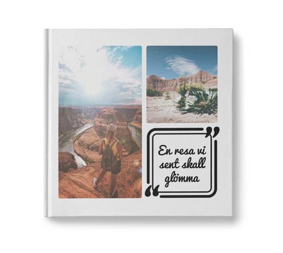 fotobok med citat runda hörn