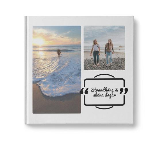 fotobok med citat - rektangel
