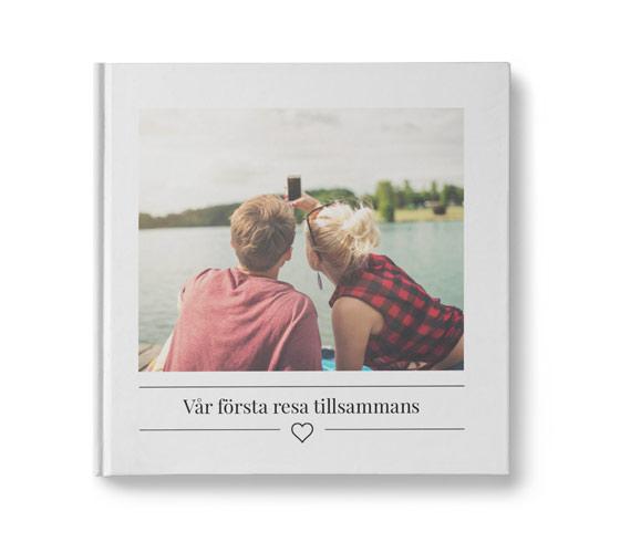 fotobok med hjärta