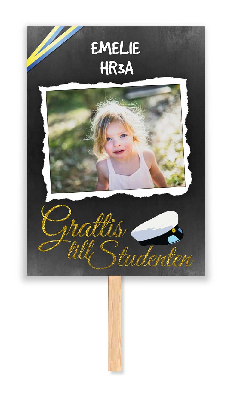 studentskylt Griffeltavla