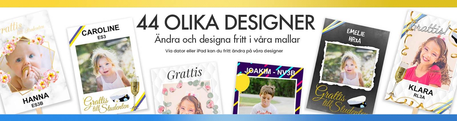 Studentplakat 44 olika designer