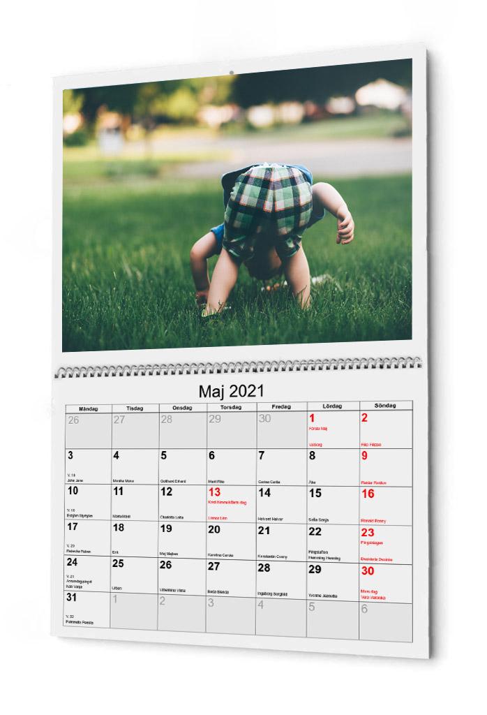 Kalender bunden I mitten 2021