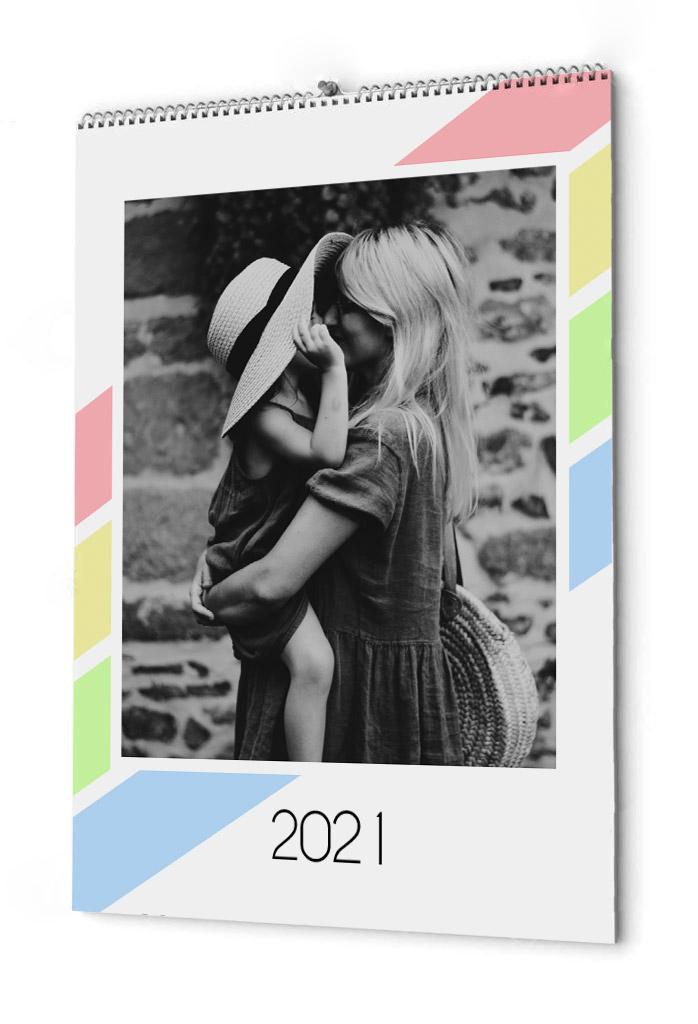 Fotokalender pastellfärger
