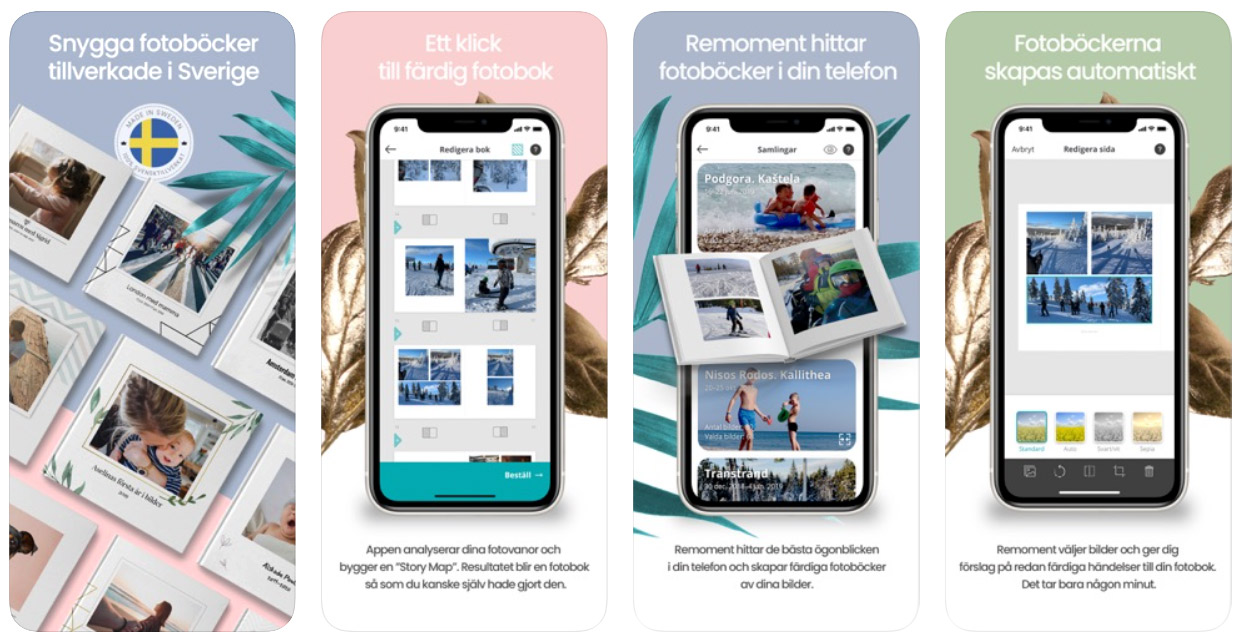 fotobok app förhandsvisning enkel