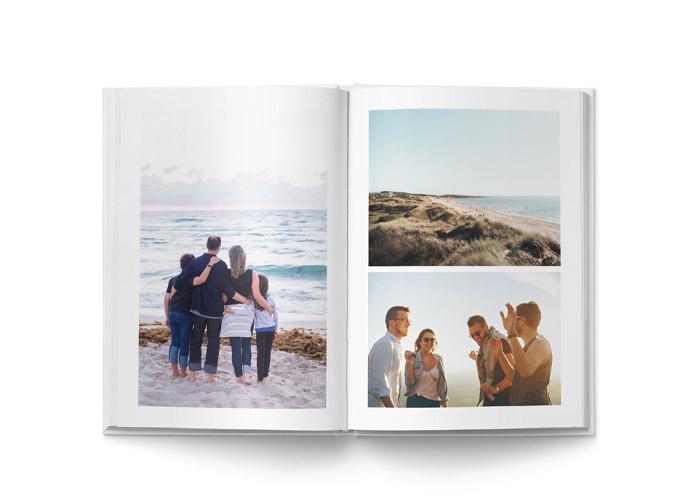 fotobok A4 layout med bilder