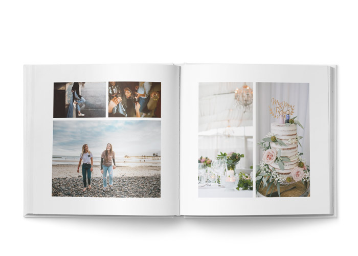 stor fotobok 27x27 cm med layout