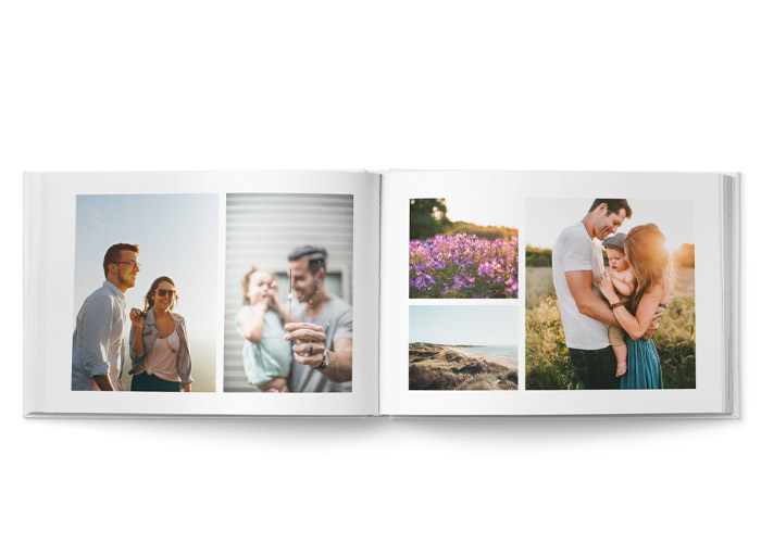 fotobok 28x20 cm layout med bilder