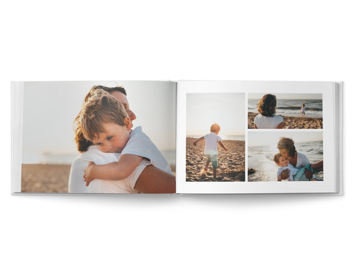 stor fotobok layout