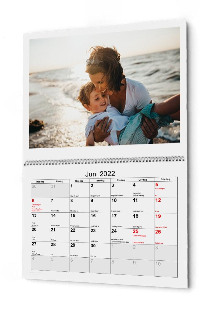 Kalender bunden I mitten 2022