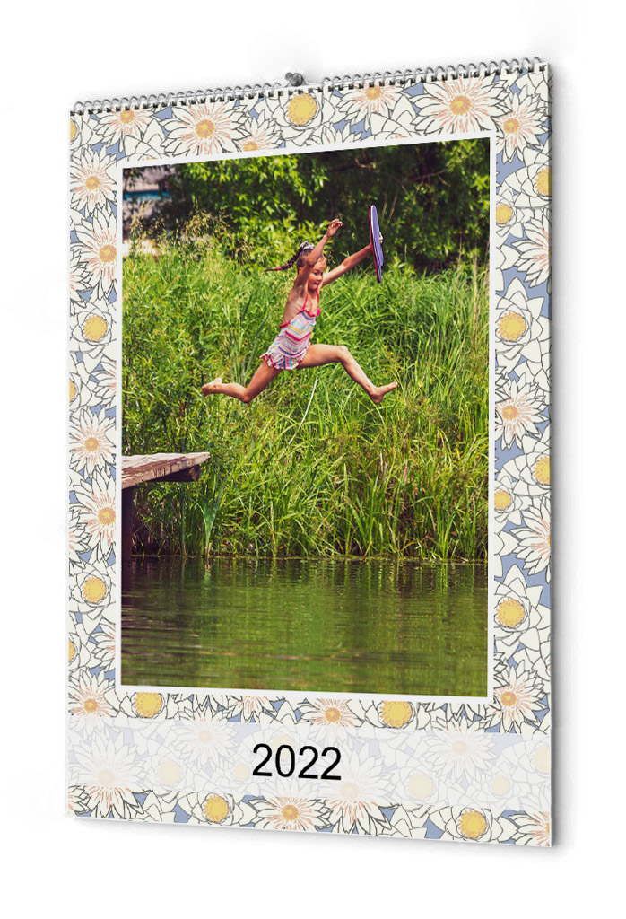 Fotokalender blommigt mönster